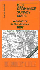 OLD ORDNANCE SURVEY MAP WORCESTER THE MALVERNS KEMPSEY UPTON UPON SEVERN 1897