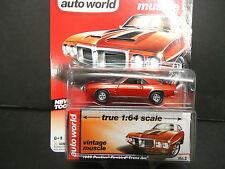 Auto World Pontiac Firebird Trans Am 1969 rouge 1/64 détail voiture