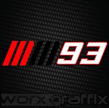 Marc Marquez 93 decal sticker Repsol CBR Honda Yamaha Suzuki Kawasaki Ducati