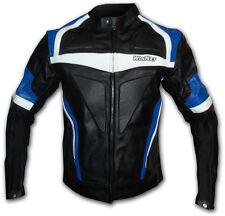 Biker moto chaqueta cazadora moto de cuero XL XXL 3XL 4X azul 54 56 58