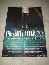 THE AMITY AFFLICTION - CHASING GHOSTS 2012 AUS TOUR -  LAMINATED TOUR POSTER