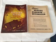 1951 Sears Electric Wiring for Home or Farm plus Wiring Planner and Estimator