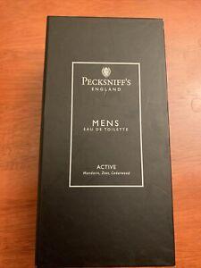 Pecksniff's England Mens Eau de Toilette Active Mandarin, Cedar, Zest 3.3oz