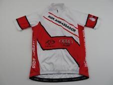 Primal Mens White Red Ride Ambassador Bike Cycling Jersey Size Medium Diabetes