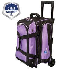 Ebonite Transport II Black/Purple 2 Ball Roller Bowling Bag