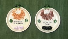Irish Candy or Trinket Dishes for St. Patrick's Day Set of 2 Price Import Japan