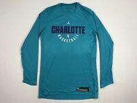 NEW Jordan Charlotte Hornets - Teal Dri-Fit Long Sleeve Shirt (Multiple Sizes)