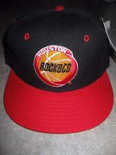 Vintage New Era Houston Rockets Nba Dead Stock Fitted Hat Cap 7 1/4 With Tags