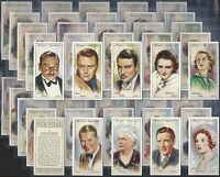 PLAYERS-FULL SET- FILM STARS (2ND SERIES 50 CARDS) - EXC