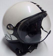 Casco Moto Jet Momo Design Blanco White Helmet Talla / Size XS