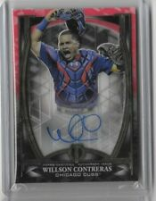 2019 Topps Tribute Willson Contreras Red Iconic Perspectives Auto #'d /10 Cubs