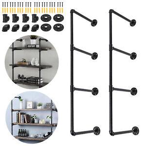 2X Industrial Retro Iron Pipe Shelves Wall Mounted Storage Shelf Bracket DIY AU
