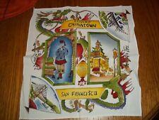 Vintage Chinatown San Francisco Souvenir Handkerchief