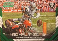 CHARLES WOODSON - 2016 Score NO FLY ZONE GREEN #3 - OAKLAND RAIDERS