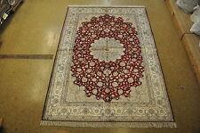 Traditional Styling Area Rug 6 x 9 Silk Isfahan Smooth Feel Handmade