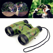 Kids Toy Telescope Night Vision Surveillance Compass Binoculars With Neck SDB