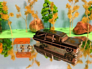 Hearse, Funeral, Grave, Car, Phantom Coaches, 1963 Cadillac, 1/64, Coffin Black