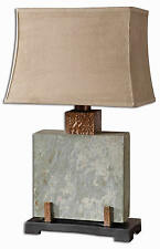 "Slate and Copper Square Indoor/Outdoor Table Lamp 29""H by Uttermost 26321-1"