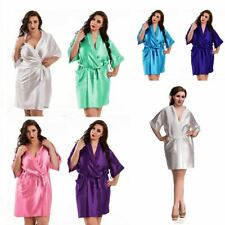 Nine X Satin Dressing Gown Plus Size Lingerie Babydoll 8-26 Bride Children Robe