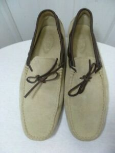 TOD'S MEN'S SAND SUEDE GOMMINO HEAVEN DRIVING SHOES MADE IN ITALY SIZE 11