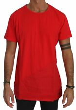 KM ZERO T-shirt Cotton Red Roundneck Short Sleeve Men Top IT48/US38/M RRP $150