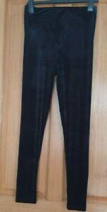 Zara Black Velvet Leggings  BNWT SIZE L