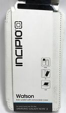 Incipio Watson foio wallet with removable case for Samsung Note 3, white