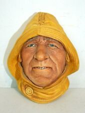 "Bossons 1965 Chalkware Head Life Boatman 4.75"" tall Vintage Fisherman, Excellent"