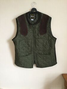 Barbour Mens Quilted Gilet/ Shooting Jacket Green Size XXL