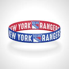 Reversible New York Rangers Bracelet Wristband Broadway Blue Shirts