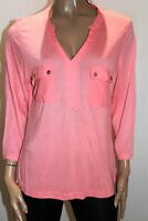TARGET Brand Pink Long Sleeve V Neck Viscose Blouse Top Size 12 BNWT #RB66