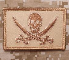 CALICO JACK NAVY SEAL PIRATE FLAG DEVGRU NSWDG DESERT VELCRO® BRAND PATCH