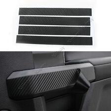 Black Carbon Fiber Car Inner Door Handle Cover Sticker For Ford F150 15 16 17