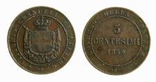 s283_55) Vittorio Emanuele II re Eletto (1859-1861) 5 Centesimi 1859