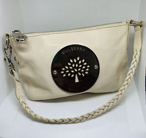 Mulberry Daria Clutch Shoulder Bag Pouchette Wristlet Handbag Pouch Cream