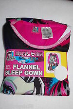 e04e374de1 Girls L S Pajamas MONSTER HIGH FLANNEL SLEEP NIGHT GOWN Pink Black SIZE 4-