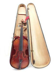 Antique GIOVAN PAOLO MAGGINI Brescia 1695 VIOLIN w/ Case Needs Repairs