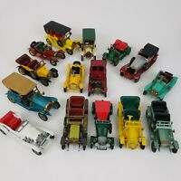 Lot 15 Lesney Matchbox Vintage Models Of Yesteryear 1970s Diecast Cars - Good/NM