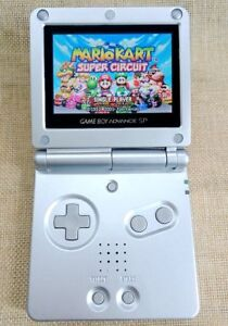 Silver Super Mario Game Boy Advance GBA SP Console AGS 101 Brighter Backlit