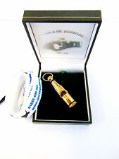 212 Sterling Silver Gold Plated Whistle - gift - dog training