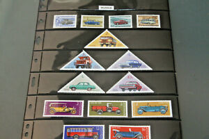 RUSSIA - DOUBLE SIDED HAGNER WITH RANGE OF MOTORING/CAR ISSUES BY SETS MNH