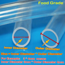 Safe Food Grade Flexible Clear Silicone Tube Hose Pipe Soft Rubber Translucent