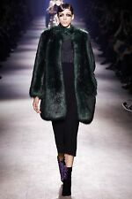 NWT DRIES VAN NOTEN GREEN REESE BIS COAT FR.42