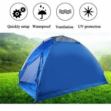 Pop Up Portable Beach UV Sun Shade Shelter Triangle Outdoor Camping Tent Blue MX