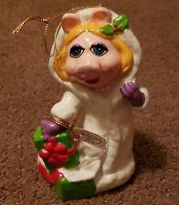 Henson Associates Muppets Miss Piggy Christmas Ornament Pour Moi Vintage 1981