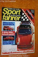 Sportfahrer 3/87 Porsche 911 Turbo Alpine V6 Alfa 75