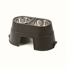 Dog Feeding Station Elevated Pet Feeder Double Cat Bowl Food Tray Plate Large