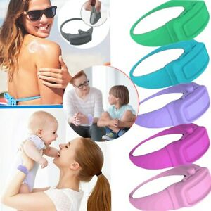 Hand Cleaning Gel Refillable Wristband Dispenser Wearable Squeezes Soap UK