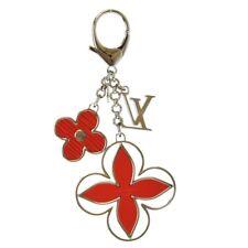 Louis Vuitton M67934 Fleur d Epi Bag Charm Rouge Auth Free Shipping Mint #1263