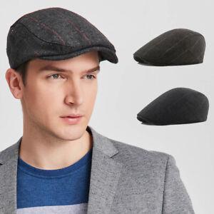Peaky Newsboy Golf Driving Hat Caps Boys Mens Flat Cap Beret Cabbie Hat Country